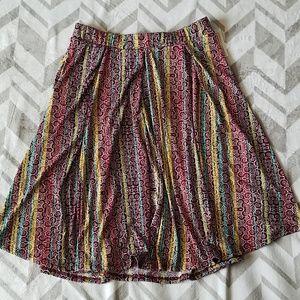 """New Lularoe """"Madison"""" Colorful Skirt Sz M"""